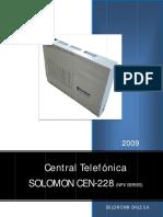 Manual  Solomon CEN-228