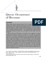 Case 5.4 Qwest; Occurrence of Revenue(1)