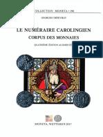 M198 G. Depeyrot Le Numeraire Carolingie