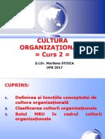 CURS 2 Cultura Organizationala