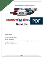 Working Capital Management of Maruti Suzuki India Ltd Minor Project