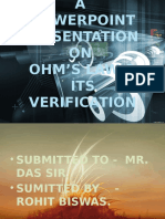 Ohm's Law and Its Verification