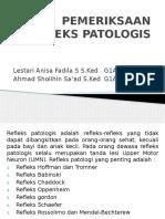 Pemeriksaan Refleks Patologis Neuro