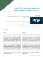Modelamento Matematico Da Emissão Sonora