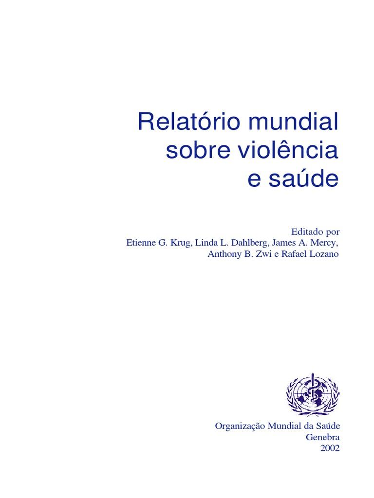 Relatrio mundial sobre saude e violncia omspdf fandeluxe Images
