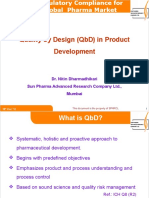 Dr N Dharmadhikari -QbD in Product Development