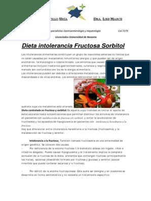 dieta para intolerancia a la fructosa pdf