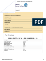Fee Structure – Bahria University Medical & Dental College