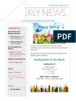 weekly newsletter- march 20-24
