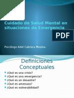 Cuidado de Salud Mental en Situaciones de Emergencia