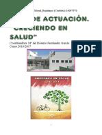 Plan de Actuación Creciendo en Salud CEIP Juan Díaz Del Moral 2016-2017