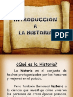 Introducccion a La Historia