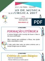 4º Dia Curso de Musica Liturgica Penha