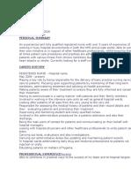Good CV Sample UK Ireland