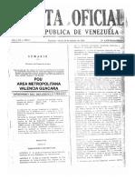 Plan de Ordenación Urbanística (POU) del Área Metropolitana Valencia-Guacara