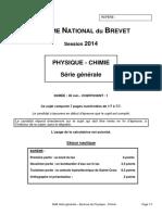 BREVET Physique-Chimie 2014