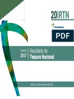 Apresentação Resultados do Tesouro Nacional 01/2017