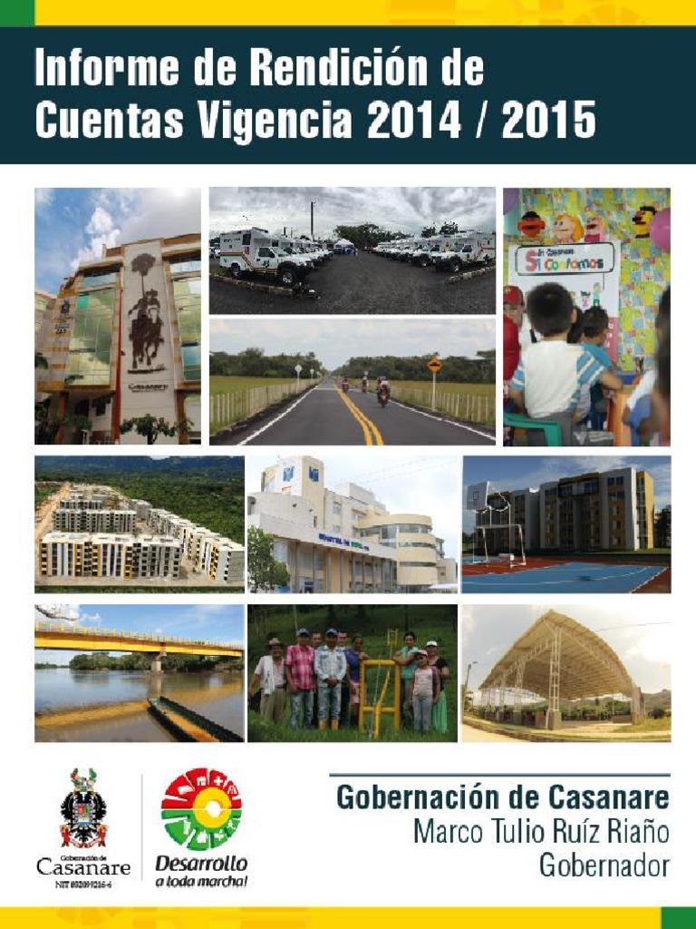 Informe Rendición de Cuentas 2014-2015