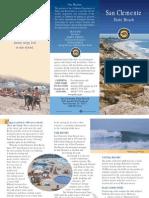 San Clemente State Beach Park Brochure