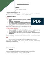 Resumo de Empresarial II
