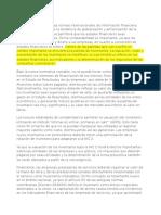 La Implementación de Las Normas Internacionales de Información Financiera