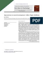 MJ Egocentrism in Moral Development Gibbs, Piaget, Kohlberg