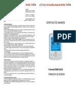 Certificat_de_garantie-termostat R8800ewew