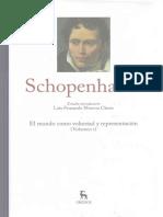 Moreno Claros, Luis Fernando - Estudio Introductorio Al Vol. ARTHUR SCHOPENHAUER_Grandes Pensadores