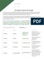 Lista de Funciones de Hojas de Cálculo de Google - Ayuda de Editores de Documentos