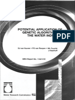 Potential Application of Genetic Algorithms in the Water Industry