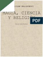 Magia, Ciencia y Religión. Bronislaw Malinowski. Traducción