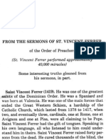 St. Vincent Ferrer- Sermon on Purgatory