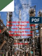 Resumen Ejecutivo Amoniaco - Urea - Bolivia