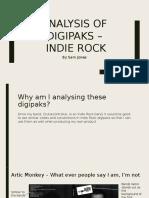 Analysis of Digipaks – Indie Rock