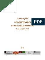 Relatório Da Avaliação Intervenções Educação Parental 2007-2010