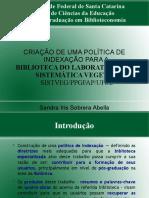 Slides Apresentação Política de Indexação Sandra