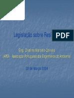Legislação Sobre Resíduos