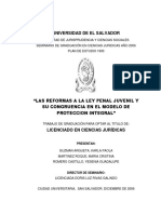 Las Reformas a La Ley Penal Juvenil y Su Congruencia en El Modelo de Proteccion Integral