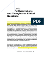 Arendt's Observations and Thoughts on Ethical Questions