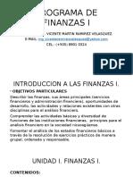 Unidad i. Finanzas I