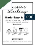 Cursive Writing Made Easy and Fun!