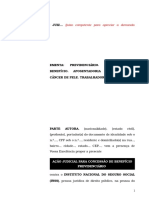 36.1- Pet. inicial - Aposentadoria por invalidez - Concessão de benefício ao trabalhador rural com câncer de pele.doc