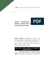 41.1- Pet. inicial - Aposentadoria por invalidez ou auxílio-doença - Concessão de benefício ao segurado com alcoolismo.doc