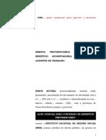 33.1- Pet. inicial - Aposentadoria por invalidez - Incapacidade decorrente de acidente de trabalho.doc