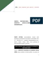 45.1- Pet. inicial - Auxílio-acidente – Concessão de benefício ao segurado desempregado.doc