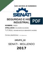 Seguridad e Higiene Industrial Tarea Unidad 1