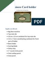 A Business Card Holder