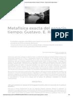 Metafísica Exacta Del Espacio Tiempo_ Gustavo. E