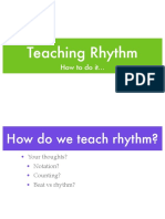 Teaching Rhythm and Tonality