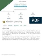Vida de Johannes Gutenberg